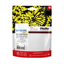 Pfeiffer Printer Cartridge, compatible with Brother LC-1280Y / LC-77Y Yellow, PFIB077Y