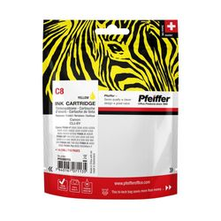 Pfeiffer Printer Cartridge, compatible with Canon CLI-8Y Yellow, PFIC008Y