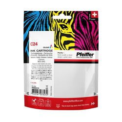 Pfeiffer Printer Cartridge, compatible with Canon BCI-24C, BCI-21C Colour, PFIC024T