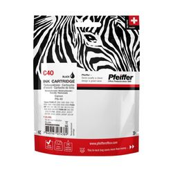 Pfeiffer Printer Cartridge, compatible with Canon PG-40 Black (remanufactured), PFIC040BR