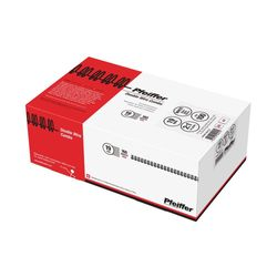 Pfeiffer Double Wire Combs 19 mm White, A5/ 2:1,16 Loops, 160 Sheets max, Commercial pack of 100, PFW71901C2