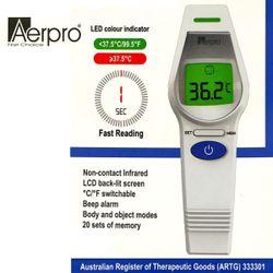 Prime Deal ! Aerpro Non Contact Infra Red Forehead & Body Thermometer Australian ARTG Registered