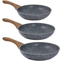 CARL SCHMIDT SOHN STEINFURT MARBLE COATED FRYING PANS-Grey 3 Piece Set