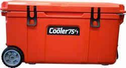 BlackWolf 75L Rolling Cooler Orange