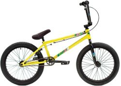 """Colony Sweet Tooth 20.7"""" Pro Complete BMX Bike Yellow Storm"""