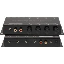 PRO1340 Pro2 4-Way Headphone Amplifier With Loop Out Loop-Out Via Both Stereo 3.5Mm and RCA Output Simultaneously 4-WAY HEADPHONE AMPLIFIER