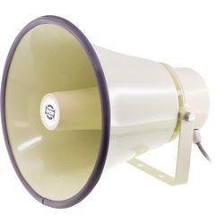 TC30AH SHOW 30W 100V Line Horn Speaker Ip66 Aluminium U Shape Bracket Round Type 100V Line Horn Speaker 30W 100V LINE HORN SPEAKER