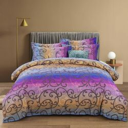 Mandala rainbow- Double/Queen/King/Super King - Quilt Cover Set, India,oriental