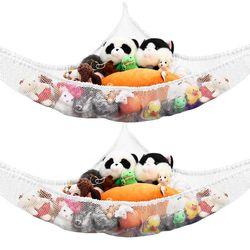 Large Soft Toy Hammock Teddy Storage Mesh Baby Children Bedroom Nursery Tidy Net
