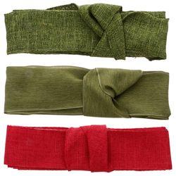 3 Rolls Practical Cloth Ribbons DIY Ribbons Gift Ribbons