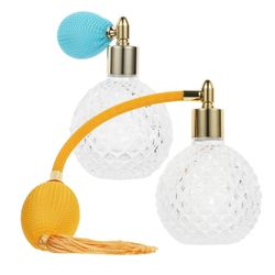 2pcs 100ml Perfume Bottles Refillable Crystal Art Atomizers Spray Bottles