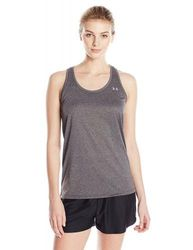 (X-Small, Carbon Heather) - Under Armour Tech - Solid Women's Tank