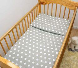 (Pattern 14) - 2 Piece Baby Kids Bedding Set 120x90cm Duvet Cover & Pillowcase for Toddler Cot