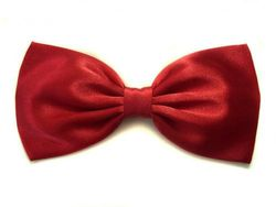 """Large Classic Red """"Disney Princess Snow White"""" Inspired Satin Hair Bow (Alligator Clip)"""