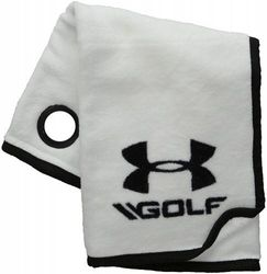 (One Size, White/Black) - Under Armour Golf Towel
