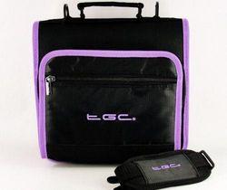 (Black w/ Electric Purple Trims) - New Shoulder Carry Case Bag for the Polaroid PDV-0713B Portable DVD player by TGC ® (Black w/ Electric Purple Trims)