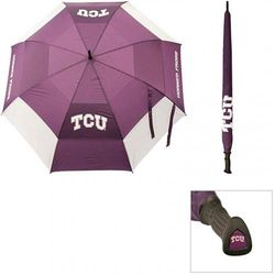 (TCU Horned Frogs) - Team Golf NCAA 160cm Golf Umbrella with Protective Sheath, Double Canopy Wind Protection Design, Auto Open Button