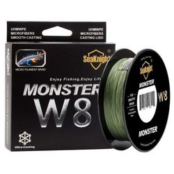 (Low-Vis Green, 3.0 :18kg/Diam:0.14mm/328Yds/300M) - SeaKnight Monster W8 Braided Lines 8 Strands Weaves 300M/328Yards Super Smooth PE Braided Multifilament Fishing Lines for Sea Fishing 6.8-45kg