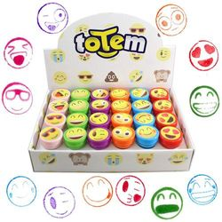 Totem World 24 Emoji Craft Stampers - Self-Inking Stamps - Perfect for Birthday Party Favours, Easter Eggs, and Stocking Stuffers