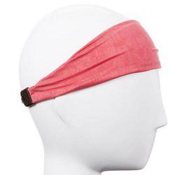 (Lightweight Crushed Coral) - Hipsy Xflex Crushed Adjustable & Stretchy Wide Basketball Headbands for Men