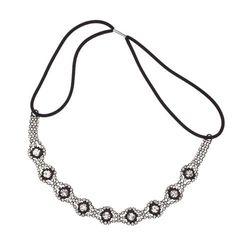 Lux Accessories Pave Crystal Eye Bridal Stretch Headband Head Band