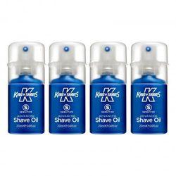 (4 x 20ml) - King of Shaves Sensitive Advanced Shaving Oil 20ml QUAD-PACK