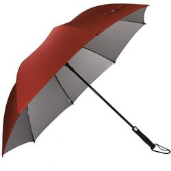 (Red) - G4Free Automatic Open Golf Umbrella Extra Large 160cm Windproof Sun Protection Oversize Waterproof Stick Umbrellas for Men Women
