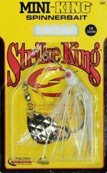 (5ml, White Head White Skirt) - Strike King Mini-King Spinnerbait - Single Colorado Diamond Blade