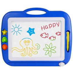 (Blue) - SGILE Magnetic Drawing Board, Non-Toxic Big Magnetic Erasable Magna Doodle Toy, Assorted Colours Writing Painting Sketching Pad Board for Toddler Boy Girl Kids Skill Development, Blue( Extra Large)
