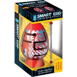 (Red Dragon) - Smart Egg 2-Layer Labyrinth Puzzle, Red Dragon: Difficult