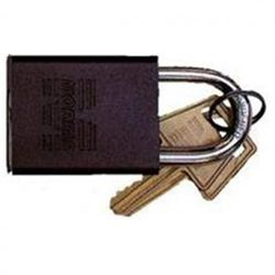 (brown) - Morris Products 21676 Padlocks Brown Keyed Different Accepts Master Key