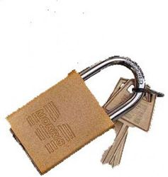 (gold) - Morris Products 21682 Padlocks Gold Keyed Different Accepts Master Key