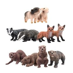 Toymany 10PCS Mini Size Animal Figures, Realistic Wildlife Animal Figures Toy Set, Excellent Education Gift Favours Playset For Kids Children Toddler