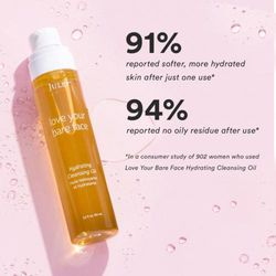 (Full Size) - Julep Bare Face Hydrating Cleansing Oil and Makeup Remover, Face Wash for Normal to Dry Sensitive Skin, More Sizes Available