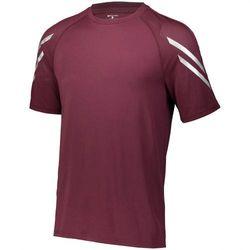 (Maroon, Medium) - Men's Flux Shirt Short Sleeve Holloway Sportswear