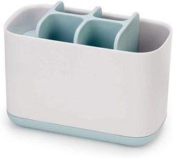 (Large Toothbrush Caddy, Blue) - Joseph Joseph 70501 EasyStore Toothbrush Holder Bathroom Storage Organiser Caddy, Large, Blue