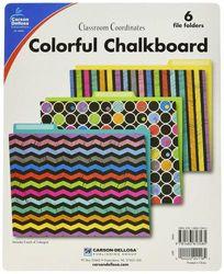 Carson Dellosa Colourful Chalkboard File Folders (136006)