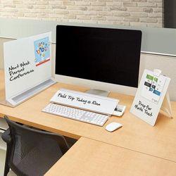 (Desktop Computer Pad) - Quartet Glass Dry Erase Board, Desktop Computer Pad White Board with Storage Drawer, 46cm x 15cm , White, Frameless (GDP186)