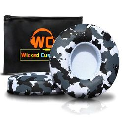 (Snow Camo) - Wicked Cushions Beats Solo 2 Ear Pad Replacement - Compatible with Solo 2 & 3 Wireless On Ear Headphones   (Snow Camo)