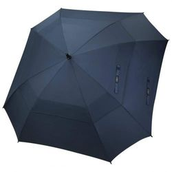 (Navy Blue) - G4Free Extra Large Golf Umbrella Double Canopy Vented Square Umbrella Windproof Automatic Open 160cm Oversize Stick Umbrella for Men Women