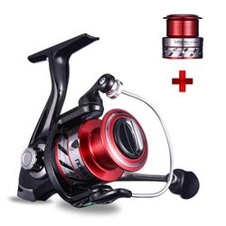 (Red 2000 + Shallow spool 3000) - NOEBY Fishing Reels + Shallow Spool 5+1BB Spinning Reels Ultra Smooth Reel for Saltwater or Freshwater Bass
