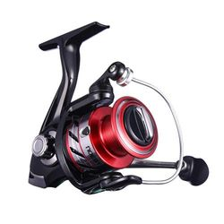 (Red 4000) - NOEBY Fishing Reels + Shallow Spool 5+1BB Spinning Reels Ultra Smooth Reel for Saltwater or Freshwater Bass
