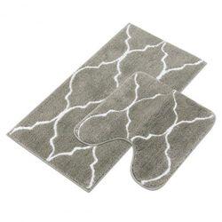 (2 Piece, 2pc-grey) - Homcomodar 2 Piece Bath Rugs Set Microfiber Washable Bath Mats with Contour Toilet Rug U-shaped for Bathroom(Grey)