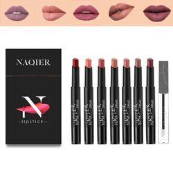 (Lipstick 8PCS) - NAQIER Matte Lipstick Set, 7PCS Nude Moisturiser Smooth Lip Stick 1PCS Lip Plumping, Waterproof liquid lipstick mate Make up Velvet lip gloss Cosmetic
