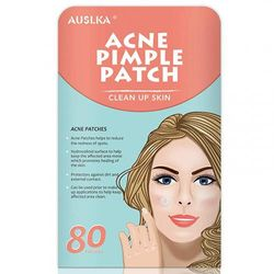 (80 PATCHES) - Acne Pimple Master Patch, Acne Spot Treatment, Hydrocolloid Acne Dots for Face (80 Patches)
