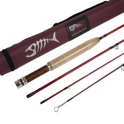 """(6'1'' LW0/1) - Aventik Z Short & Light Ultra Light Fly Fishing Rods 6'1"""" LW0/0.3m LW2, 1.8m LW2/3, 2.1m LW3/4, All in 4 Pieces Fast Action Super Compact Freshwater Fly Rods"""
