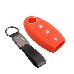 (red) - Silicone Key Cover for fits Nissan Keyless red