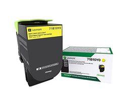 (Yellow) - Lexmark 71B10Y0 CS317dn CX317dn CS417dn CX417de CS517de CX517de Yellow Return Programme Cartridge Toner