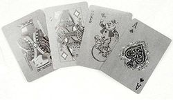 (Silver) - Silver Metallic Finished Playing Cards