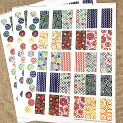 45 Kaleido Rectangle Poly Weatherproof Labels + 45 Matching Round Stickers for Lip Balm or Essential Oils by Rivertree Life